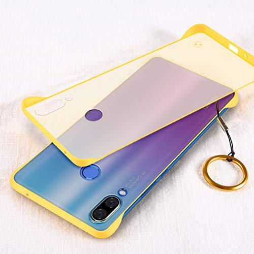 Yoodi Capa para Huawei Nova 3, capa ultrafina translúcida fosca rígida de policarbonato quatro cantos à prova de choque para Huawei Nova 3 - amarela