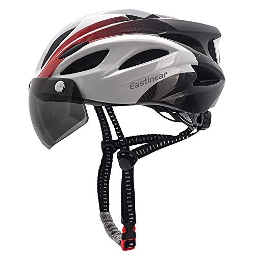 EASTINEAR Casco Bicicleta para Adultos con Gafas Hombre Mujer Casco Bicicleta con...