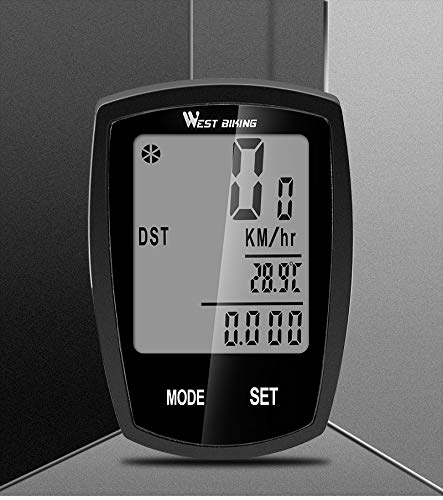 Mix Vogue Bicycle Computer Speedometer, Waterproof Cycling Odometer with Automatic Wake-up LCD Backlight for Outdoor Cycling and Best Gifts for Bikers (Size : Black Wired)
