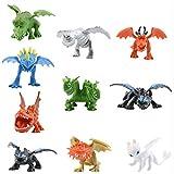How to Train Your Dragon Dragon Toys Mini Figures - Action Figures 10 pcs 5-6.5cm PVC Action Figures Toy Doll Night Fury Toothless Dragon - Cake Topper