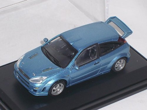 Ford Focus St RS 1. Generation Blau Mit Vitrine Und Sockel 1/43 Modellauto Modell Auto