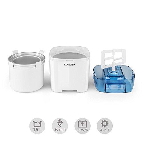 Klarstein Creamberry máquina de helado 10 W, blanco: Amazon.es: Hogar