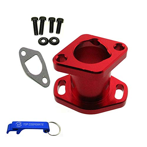 TC-Motor Red Racing Performance Intake Pipe Inlet Manifold Gasket Screw For Predator 212cc For Honda GX200 For 6.5HP Chinese OHV Engines For Chinese 196cc Clone Engines Mini Bike Go Kart