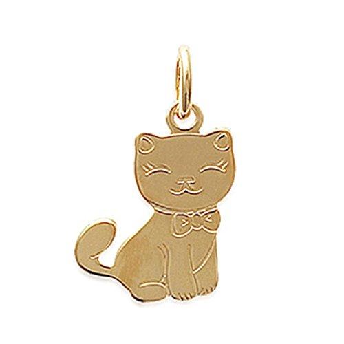 Isady – Marie Oro – pendente animali Gatto con collane 40cm pendente Collier – 18 Karat (750) Oro giallo