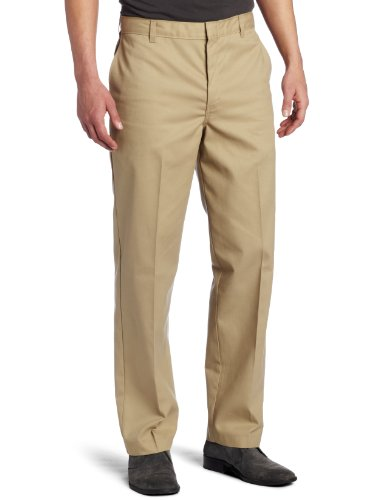 Dickies Men's Young Adult Sized Flat Front Pant, Khaki, 32X32