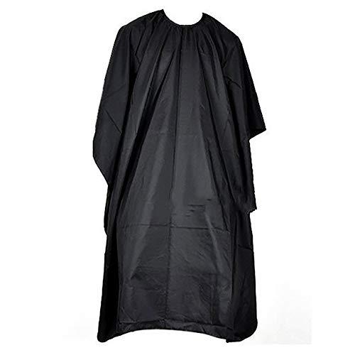 kaakaeu Robe De Coiffure Cape De Coupe De Cheveux Imperméable Cape Salon Professionnel Coiffeur Barbiers Solide Noir