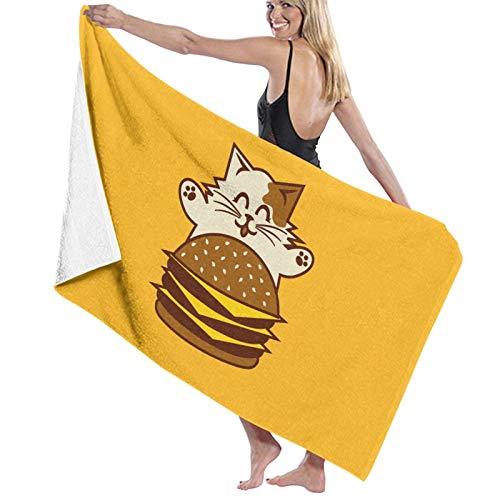 U/K Toalla de baño de Cheeseburger de secado rápido