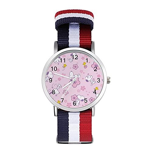 Snoopy reloj de ocio para adultos, moderno, hermoso y personalizado aleación Shell casual deportivo reloj de pulsera para hombres y mujeres