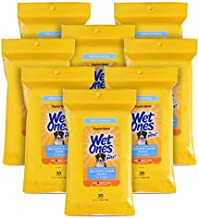 Wet Ones for Pets Delicate Clean Puppy Cleaning Wipes With Oatmeal   Mild & Soothing Puppy Grooming Wipes in Tropical Splash Scent, Wet Ones Wipes with Wet Lock Seal   30 Ct Pouch Dog Wipes