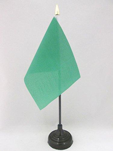 AZ FLAG TISCHFLAGGE EINFARBIG GRÜN 15x10cm goldene splitze - EINFARBIG TISCHFAHNE 10 x 15 cm - flaggen