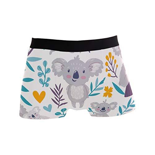 TropicalLife LZXO Herren Boxershorts Cute Koala Tree Unterwäsche Trunks Sanft Strecken Atmungsaktive Boxershorts (Größe: XL)