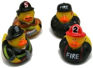 Fun Express Firefighter Fireman Fire Fighter Hero Rubber Ducks (24 Pack)