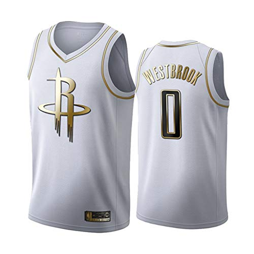 MHCA Basketball Trikot-Russell Westbrook- Houston Rockets # 0 Trikot, Basketball Swingman Trikot Sportswear, Unisex ärmelloses T-Shirt (Größe: XS-5XL)-XS-C1