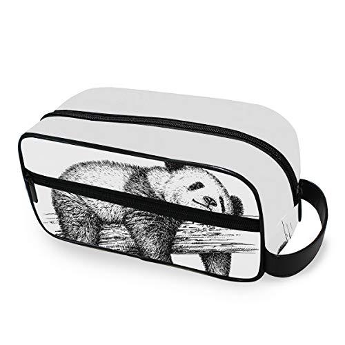 Mignon Animal Panda Bear Outils De Mode Cosmétique Train Case Trousse De Toilette Portable De Stockage Voyage Maquillage Sac