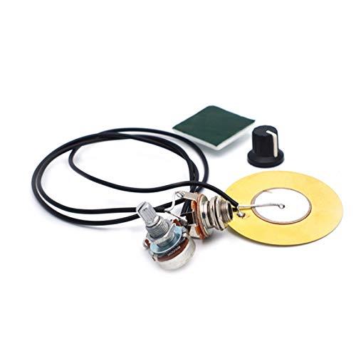 Mirrwin Mini Contacto de Recogida Micrófono de Contacto Piezoeléctrico Transductor Piezoeléctrico con Conector de Salida de 6.35 mm para Guitarra Mandolina Caj de Guitarra Violín Ukelele