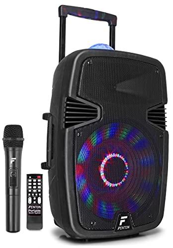 "Fenton FT15JB Aktiv-Lautsprecher 15\"" 800W BT/USB/SD/AUX-In LED Jellyball Mikro"