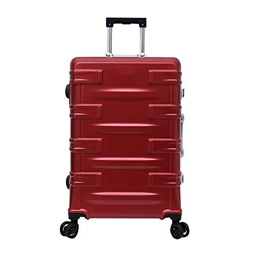 YHDD Caja de Aluminio para armar, 4 carretillas, Impermeable, portátil, Gran Capacidad para Negocios, Viajes, Equipaje de Negocios (Tamaño : 20)
