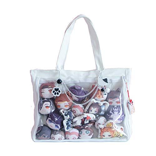 Ita Bag Ita Tragetasche Schultertasche Geldbörse Anime Schultasche DIY Cosplay Comic Con, Weiß (weiß), Einheitsgröße