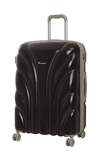 it luggage Cascade 8 Wheel Hard Shell Single Expander Suitcase Medium with TSA Lock Maleta, 70 cm, 104 Liters, Marrón (Coffee Bean)