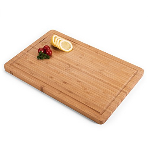 Blumtal - Planche à Découper - Bois Bambou - Accessoire Indispensable Cuisine - Grande Taille (45x30cm)