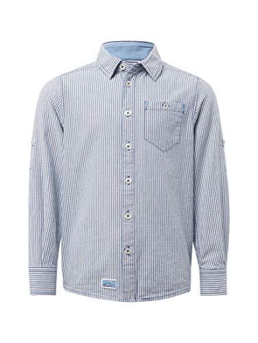 TOM TAILOR Kids Jungen Shirt solid Hemd, Blau (Dark Blue 3046), 104