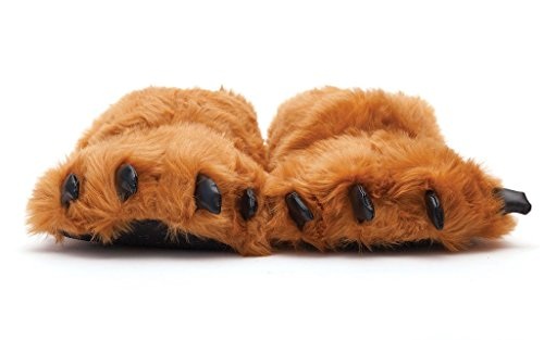 Sleeper'z - Pata de Oso marrón - Zapatillas de casa Animales con Garras Originales y...