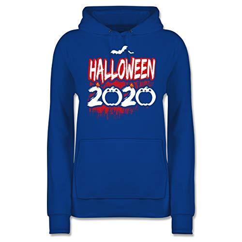 Halloween - Halloween 2020 - weiß - XS - Royalblau - Fun - JH001F - Damen Hoodie und Kapuzenpullover für Frauen