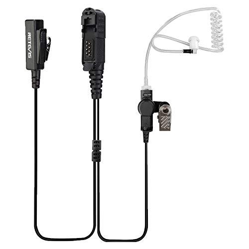 Retevis EAM003 Auricular de Vigilancia con Micrófono de Altavoz Compatible con Walkie Talkie Motorola XPR3300 XPR3500 XIR DP2400 DP2600 Auriculares de Radio Bidireccionales (1 Paquete)