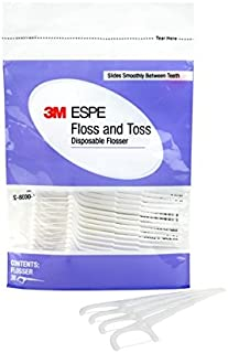 3M ESPE 12130 Floss and Toss Disposable Flossers Refill (Pack of 30)