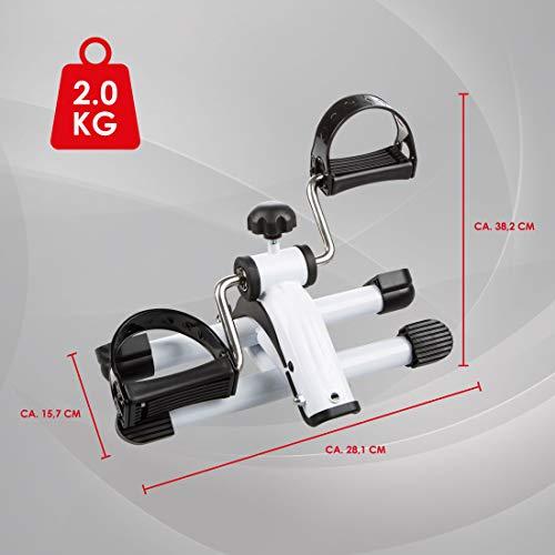 Ultrasport Minibicicleta estática para el entrenamiento de brazos y piernas, pedalina para musculación y resistencia, resistencia ajustable, para el hogar o la oficina