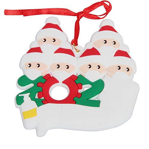 Speyang Adornos de Navidad 2020, Adorno de Familia Sobrevivido, Adornos Personalizados de Cuarentena, Árbol de Navidad Colgante 2020 Decoración Navideña (6)