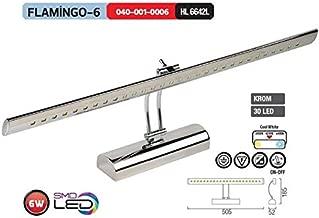Horoz Flamingo-6 6W Led Li Tablo Ayna Aplik Ilık Beyaz Işık