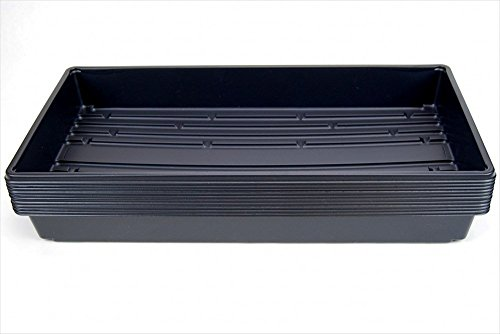 """10 Plant Growing Trays (No Drain Holes) - 20"""" x 10"""" - Perfect Garden Seed Starter Grow Trays: for Seedlings, Indoor Gardening, Growing Microgreens, Wheatgrass & More - Soil or Hydroponic"""