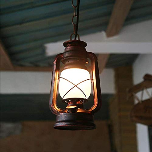 Retro Vintage Laterne, Antikes Eisen 14CM * 80CM Kronleuchter Petroleumlampe, Hängende Beleuchtung