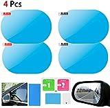 4 Películas Protectora de Espejo Retrovisor de Espejo retrovisor del coche Película impe...