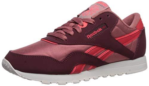 Reebok Damen Classic Nylon Laufschuh, Maroon Rose Dust Rot, 41 EU