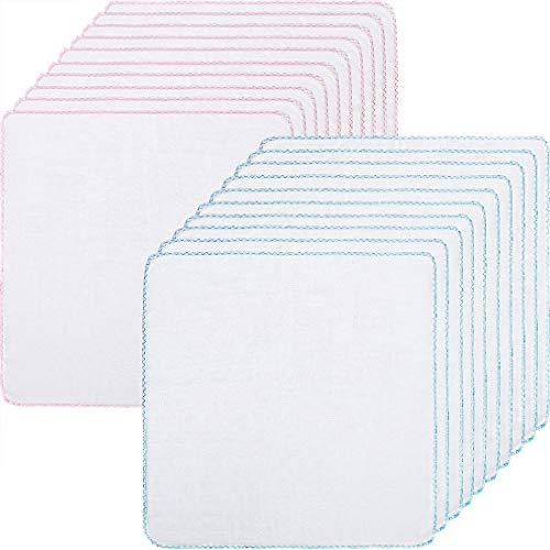 LILITRADE Paños de muselina de limpieza facial de algodón paños suaves para quitar la herramienta de maquillaje de pulido Paños faciales Absorción de agua seca rápidamente 20 unidades