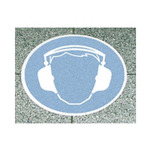 Bodenmarkierung/Antirutsch AR 2, Ronden, Gebotszeichen Symbol: Gehörschutz benutzen Rutschhemmung R 13 gem. BGR 181 Ø 40,0cm