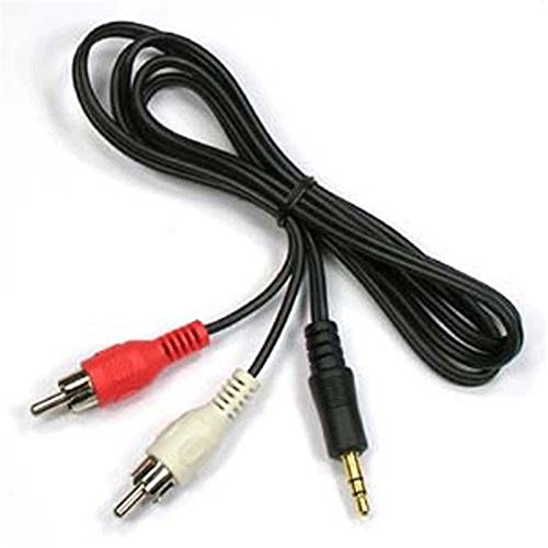 Audio Video 2RCA Stereo Cables with 3.5 mm Aux Jack for Home Theaters, Music Players, Set-up Boxes, Speakers and LCD/LED TVs