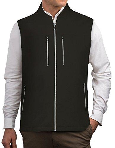 SCOTTeVEST 101 Travel Vest for Men - Hidden Pockets - Lightweight Utility Vest Black