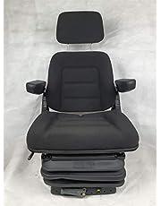 Gorilla - Asiento para tractor, asiento de tractor, asiento de excavadora, asiento del conductor, tela ecológica básica