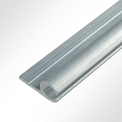 LYSEL® Kederschiene 15x30mm blank 2m 90° Grau Ø10mm für Keder 6-9mm