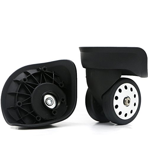 Super Ma Couple of Mute Replacement Luggage Suitcase Wheels Multi-Size Swivel Wheels (W046X)