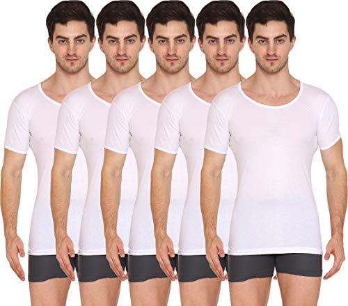 VIP Supreme Men's Half Sleeve Cotton Vest (Pack of 5) (White, 90)