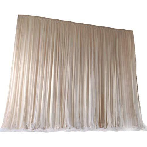 チャミ カーテン バックグラウンド 写真 撮影用背景布 撮影用 背景布 フォトブース 垂れ幕 イベント パーティー(シャンパン 2m*2m)