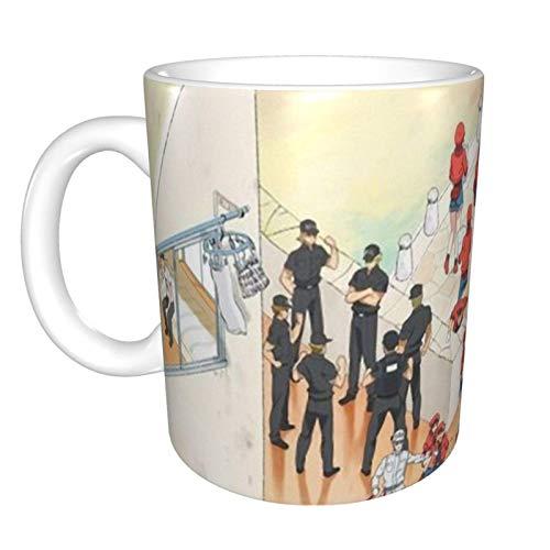 Cells at Work - Taza de café de cerámica divertida para el hogar, oficina, café, té, regalo de festival