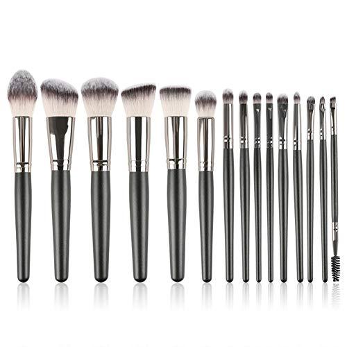 Brosse De Maquillage 15 Pcs Ensemble Débutant Maquilleur Outil Professionnel De La Modification Du Visage Fibres Chimiques Brosse De Maquillage Des Cheveux,2