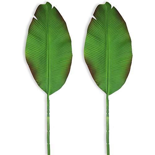 Beebel Künstliche Pflanzen, 94 cm hoch, Bananenblätter, künstliche große Paradiesvogel, tropische Palmenblätter, Imitation, Farnblätter, für Zuhause, Party, Blumenarrangement, Hochzeitsdekorationen