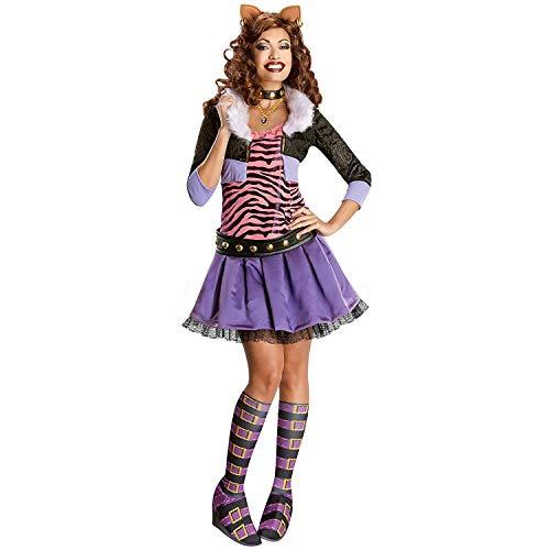 Rubie's Monster High Damen Kostüm Clawdeen Wolf Karneval Halloween Gr.S