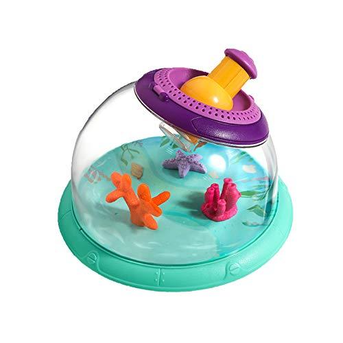 DUTUI Multifunktionales Beobachtungsaquarium,Tragbarer Und Tragbarer Kleiner Plastikhaushalt Für Kinder,Beobachtung Von Goldfischen,Schildkröten,Seidenraupen